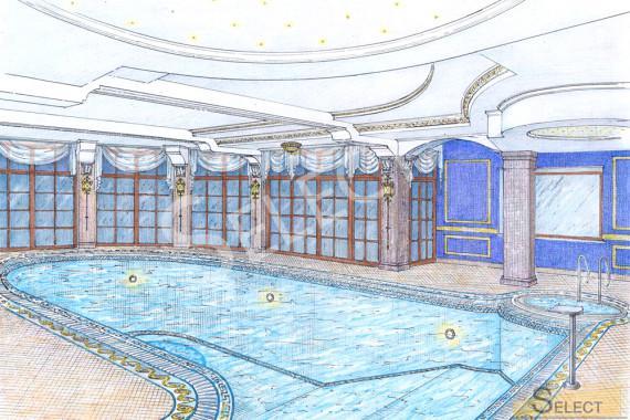 Эскиз визуализация бассейна