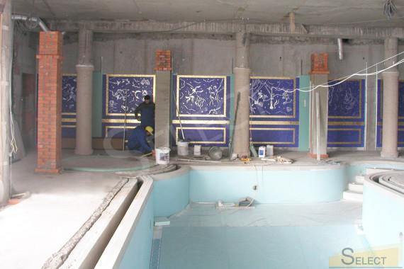Pool mosaic installation