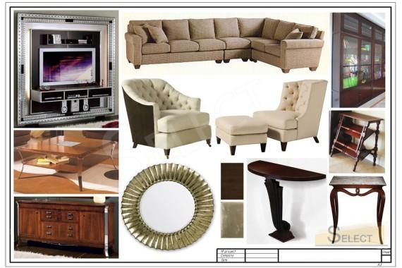 Фото дизайнерской мебели комплектация гостиной