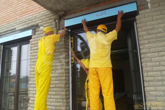 Кабинет в коттедже внешние работы по установке наружных жалюзей
