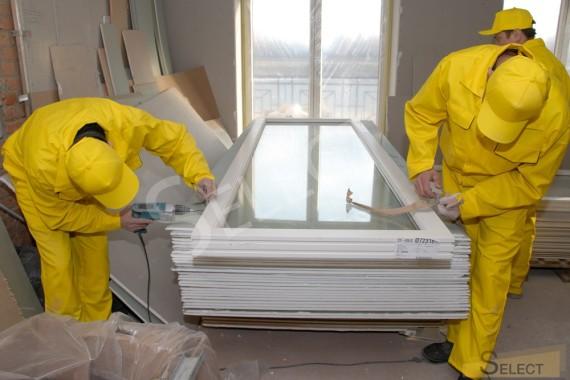 установка металлопластиковых окон в загородном доме в рабочем кабинете хозяина