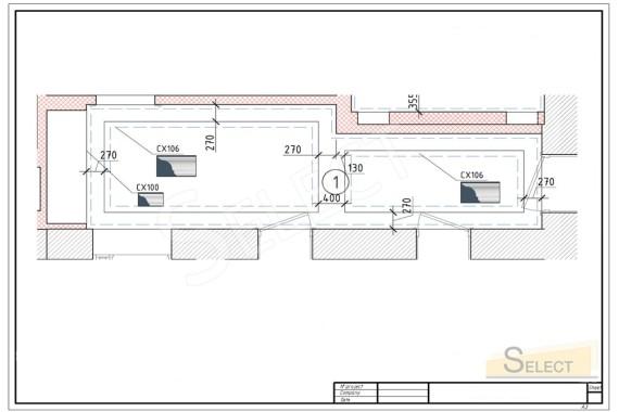 План размещения Пластики потолка. Багет на многоуровневом потолке коридора в квартирев изысканном классическом стиле