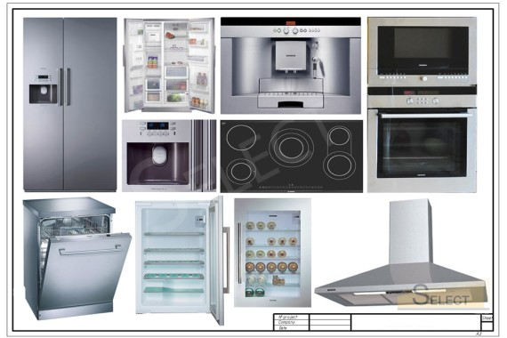 Photo of Components of household appliances in cream color