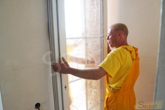 Фото ремонта Установка окон в спалне пентхауса