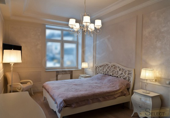 Photo Bedroom in warm pastel colors