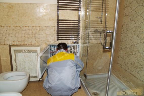 Фото установки Полотенцесушитель – Vogue совмещенного санузла в квартире