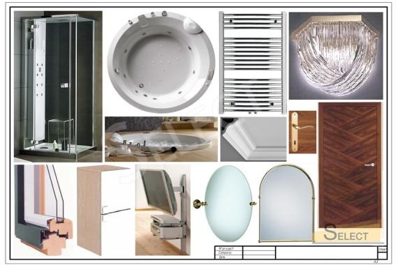 Комплектация зеркалами Traditional Bathrooms, Полотенцесушитель – Vogue, Мебель – Cavio, Bluform