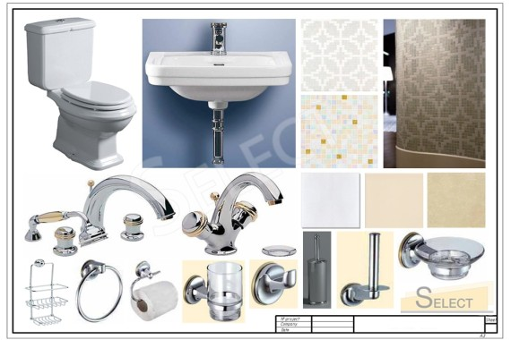 Wellness area equipment Faucets, accessories - Heritage Bathrooms, Ceramic tiles, mosaics - Ceramiche Grazia, Bisazza