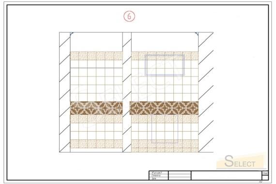 рисунок укладки плитки с привязкой к материалам