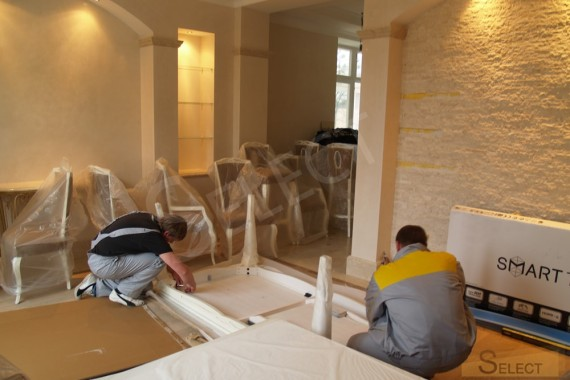 Photo furniture assembly. renovation in the living room - dining room in the Moscow region