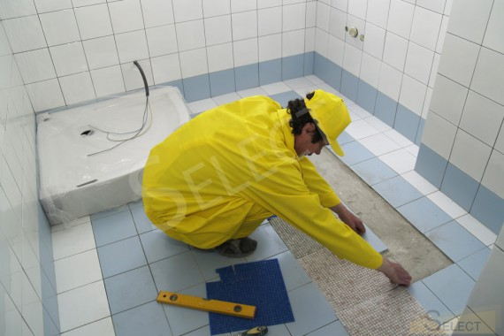 Photos of the repair work of the Children's bathroom in a country house