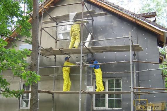 Строительные работы по фасаду. Утепление и малярные работы