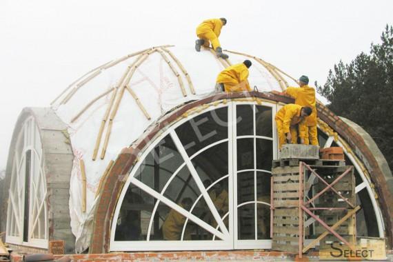 Монтажные и строительные работы на крыше виллы