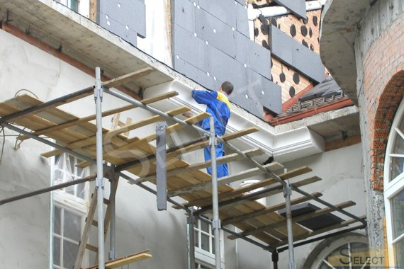Villa facade decoration, painting works