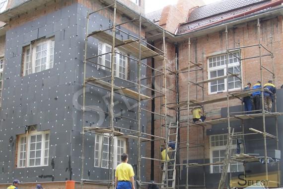 Фото молярных работ на фасаде виллы