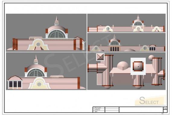 Декоративные элементы крыши виллы