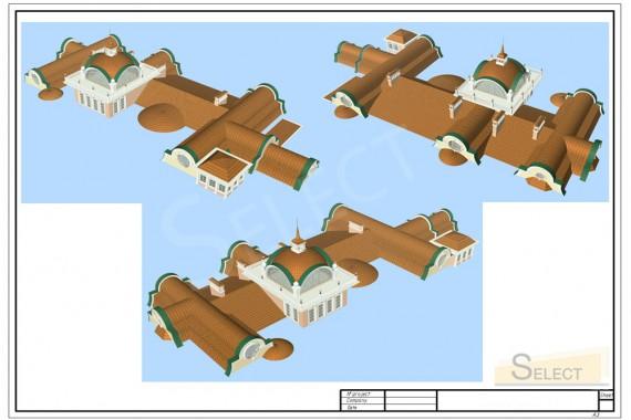 визуализация крыши на вилле