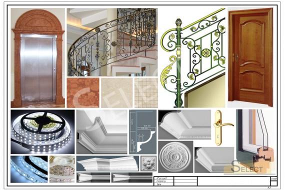 Комплектация Кованая винтовая лестница – Robers в галереи на вилле