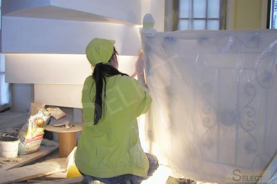 Фото малярных работ в галереи на вилле