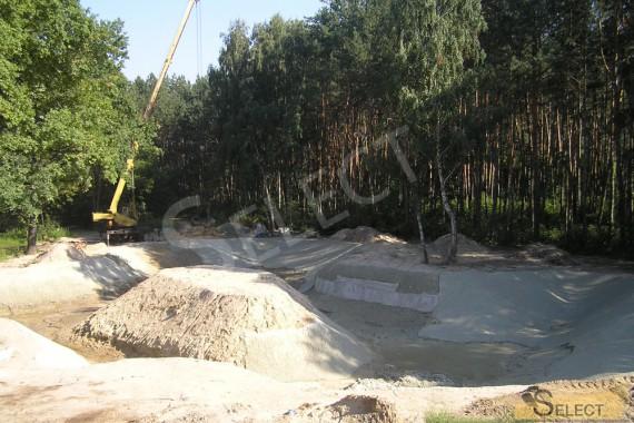 Подготовка участка под искусственый водоем с рыбой и островом посередине