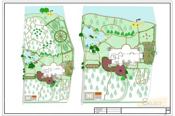 Варианты планировки ландшафта на вилле