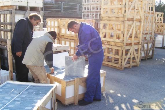 Контроль при получении мраморной плитки для наружных работ на вилле