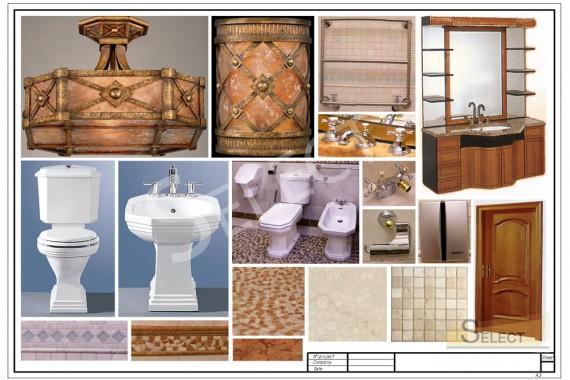 Комплектация дизайна санузела на цокольном этаже Мебель – Busatto Mobili, Унитаз, биде, писсуар – Kerasan