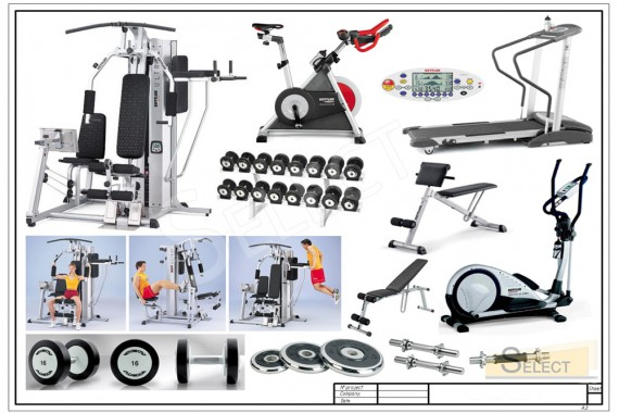 Complete set of Professional gym equipment - Kettler, Technogym