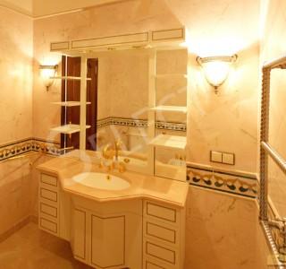 Фото. Ванная в натуральном мраморе