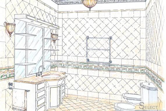 Дизайн санузла в натуральном мраморе